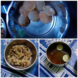 Home made pani puri
