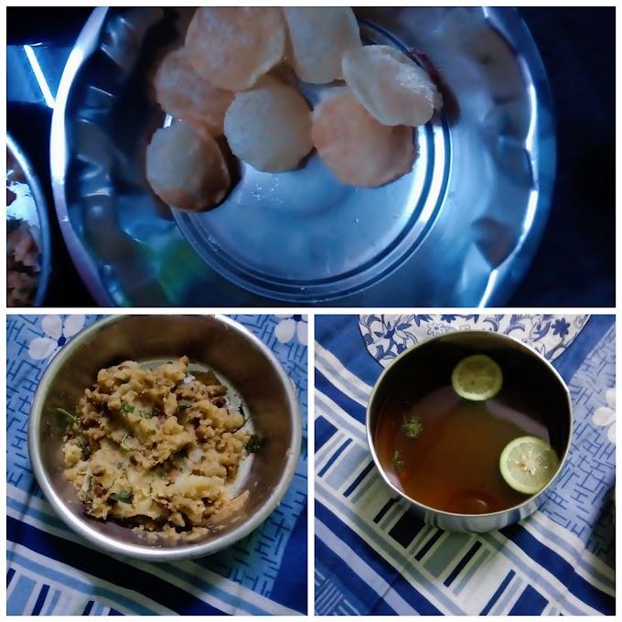 Home made pani puri receipe(Bengali style fuchka)
