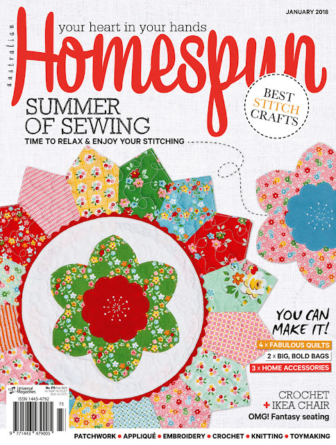Front Cover of Homespun Magazine, January 2018