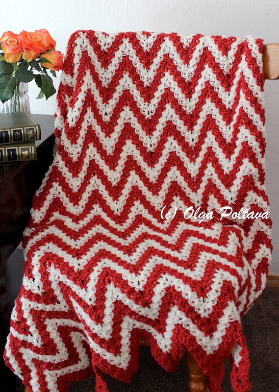 Lacy Crochet Candy Cane Ripple Crochet Lapghan My New Pattern