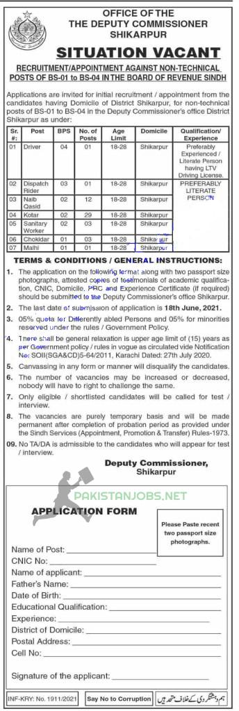 Deputy Commissioner Jobs Latest 2021
