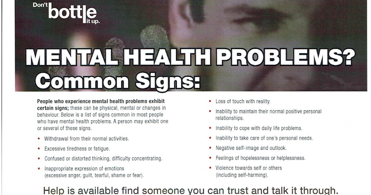 HEREFORD HIVE: Mental Health Problems? - Common Signs