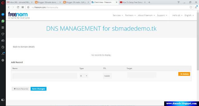 Setup Free Domain To Blogger