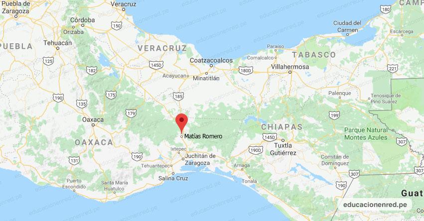 Temblor en México de Magnitud 4.1 (Hoy Domingo 22 Noviembre 2020) Sismo - Epicentro - Matías Romero - Oaxaca - OAX. - SSN - www.ssn.unam.mx
