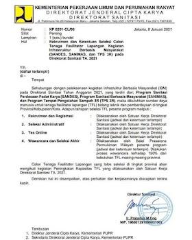 Lowongan Kerja Kementerian Pekerjaan Umum & Perumahan Rakyat Januari 2021