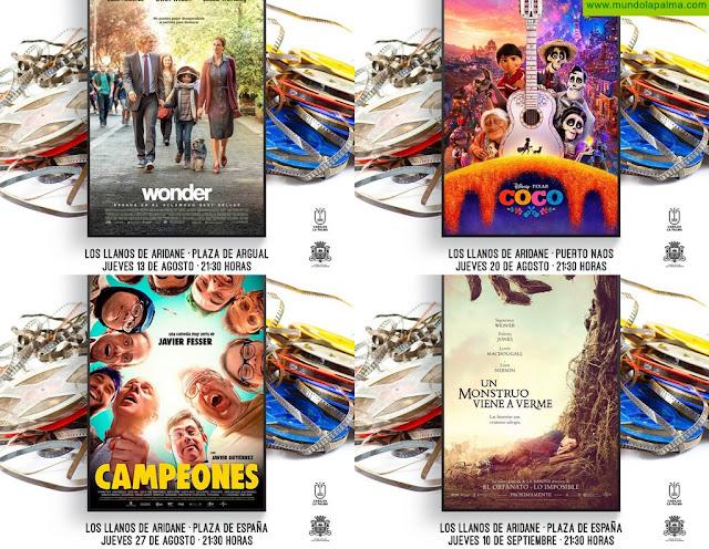 Los Llanos de Aridane pone en marcha un ciclo gratuito de cine educativo al aire libre para toda la familia