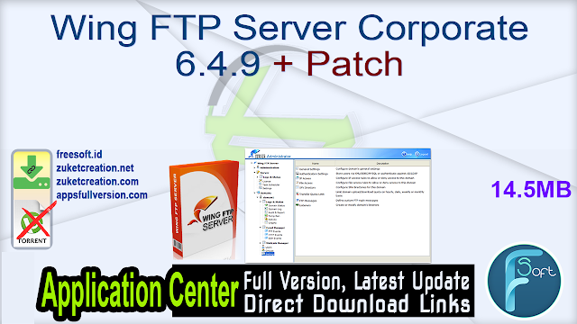 Wing FTP Server Corporate 6.4.9 + Patch