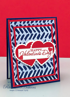 Learn how to make a masculine Valentine's Day Card with Heart to Heart Stamp Set and Paper Blooms DSP from Stampin' Up! Learn more click here