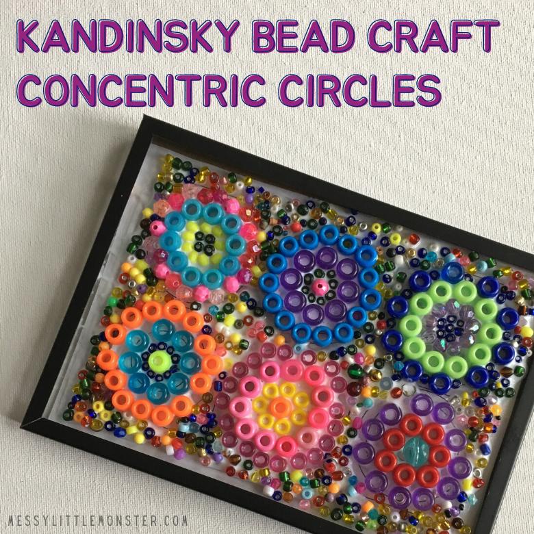 Kandinsky Circles Bead Craft for Kids