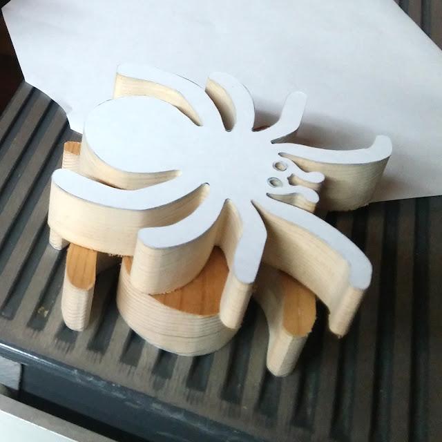 Handmade Wood Toy Halloween Spider Cutout Animal Toy - Fresh off the Scroll Saw