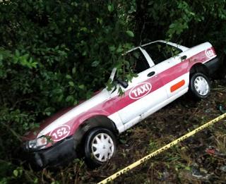 Hallan a taxista asesinado sobre la carretera Tuxpan-Tampico