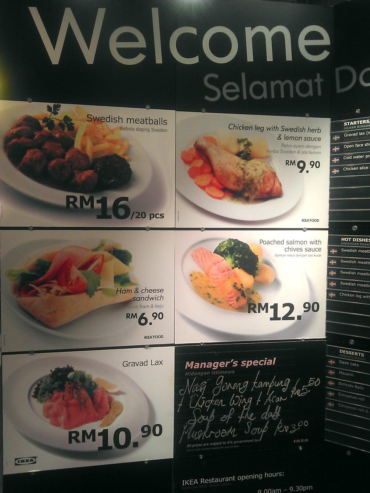 Ikea Food Menu Malaysia