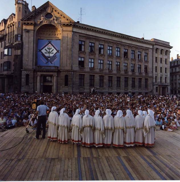 10-19 июля 1989 года. Рига. Фольклерный фестиваль на Домской площади