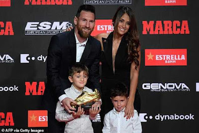 (Photos & Video) Lionel Messi Wins 6th Golden Shoe Award