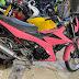 Mẫu sơn xe máy Satria hồng cực đẹp