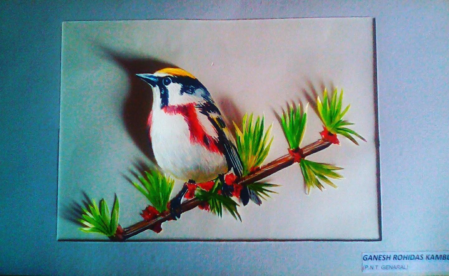 Ganesh Kamble Borikar My Painting With Poster Colour