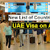 UAE Visa on Arrival Countries List