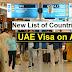 UAE Visa on Arrival Countries List