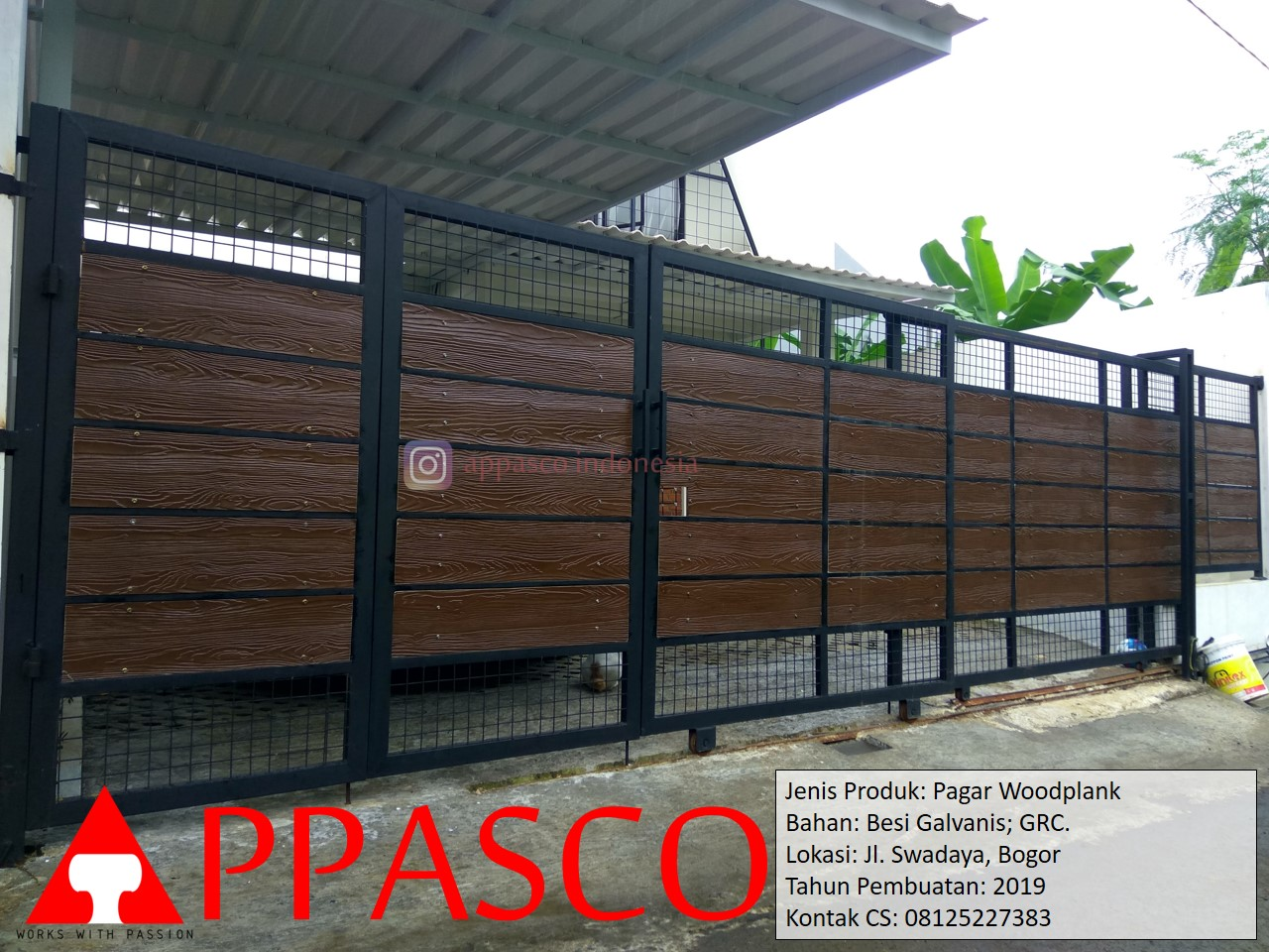 Pagar Woodplank Galvanis GRC di Swadaya Bogor