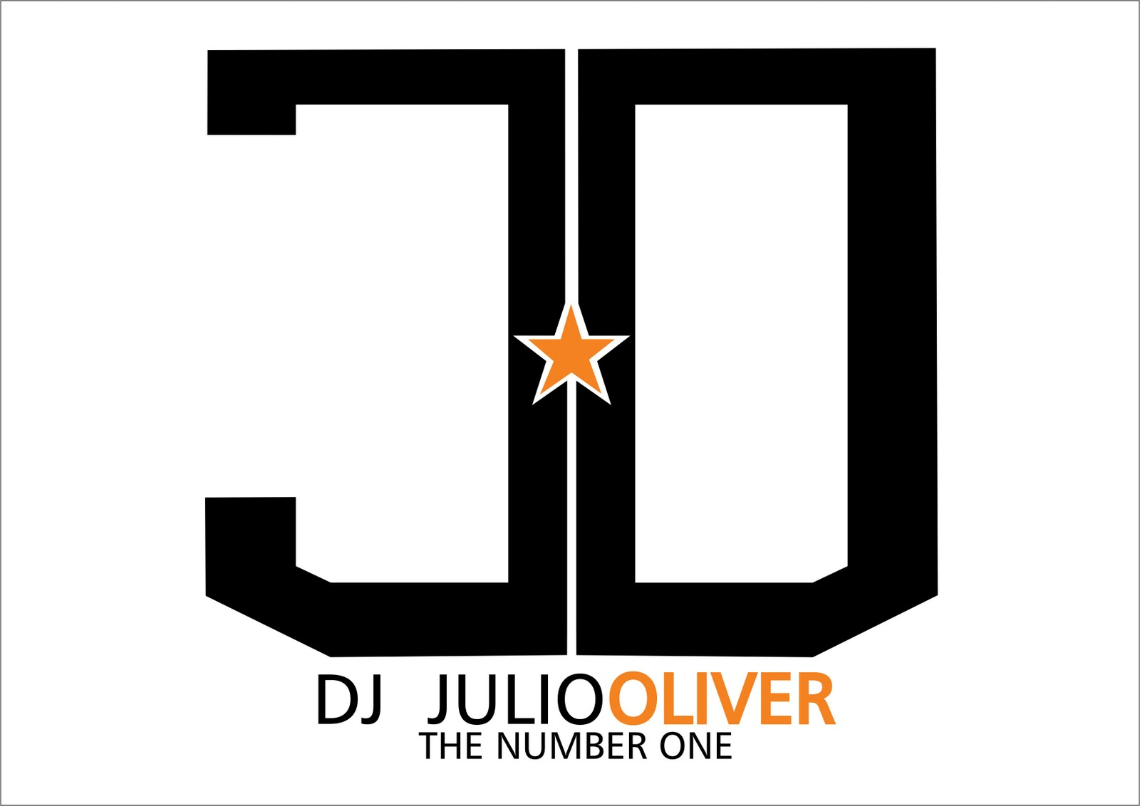 Logo Tipo Para O Dj Julio Oliver The Number One