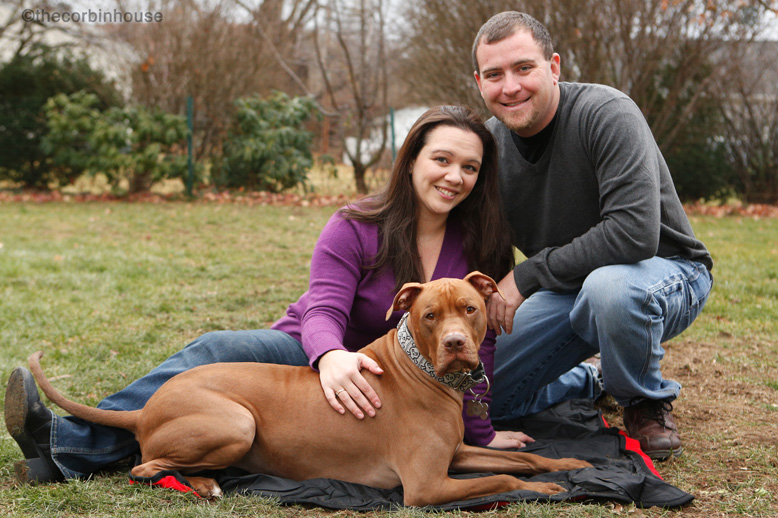 Corbin, adopted pitbull and his family celebrate National Dog Day
