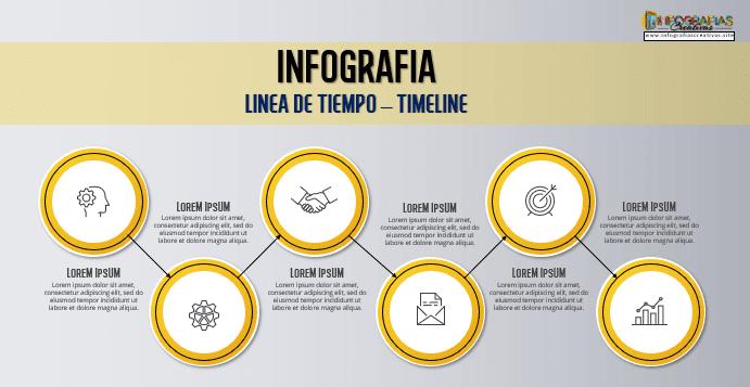 Plantilla para Infografia de timeline 05