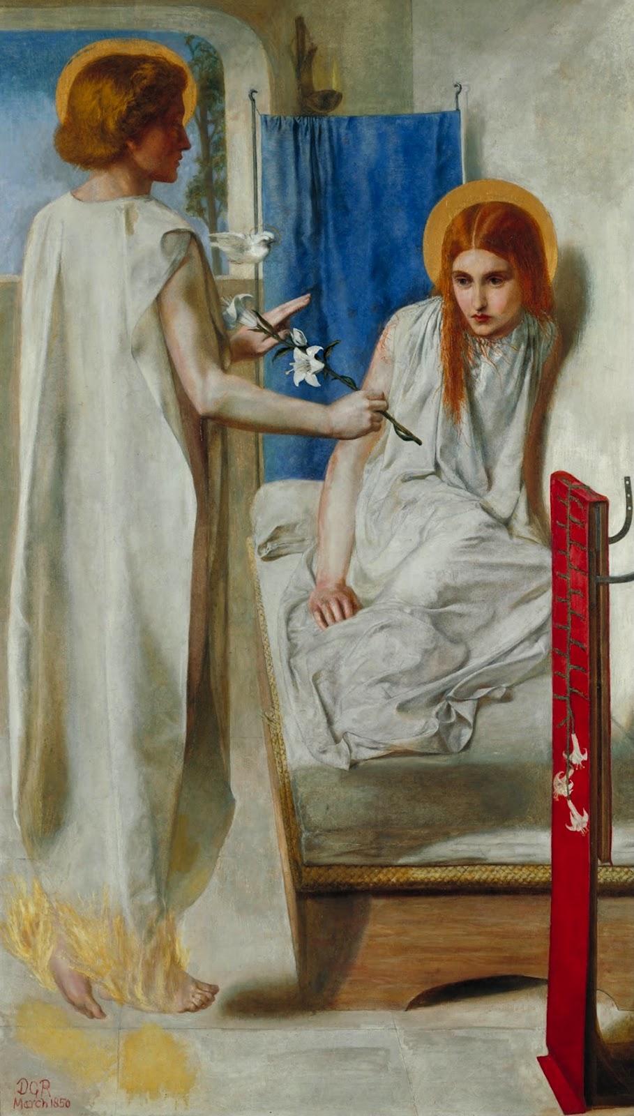 Dante Gabriel Rossetti: Ecce Ancilla Domini (1850)