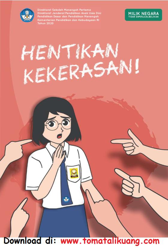 Download Buku Hentikan Kekerasan untuk Siswa SMP PDF Resmi Kemendikbud