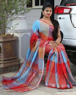 linen sarees nayanthara