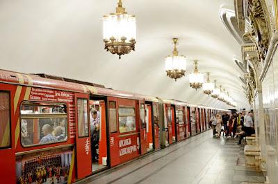 Imagen del metro en Moscú