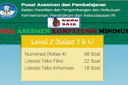 Contoh Soal AKM Daring Level 2 [Kelas 3 Dan 4]