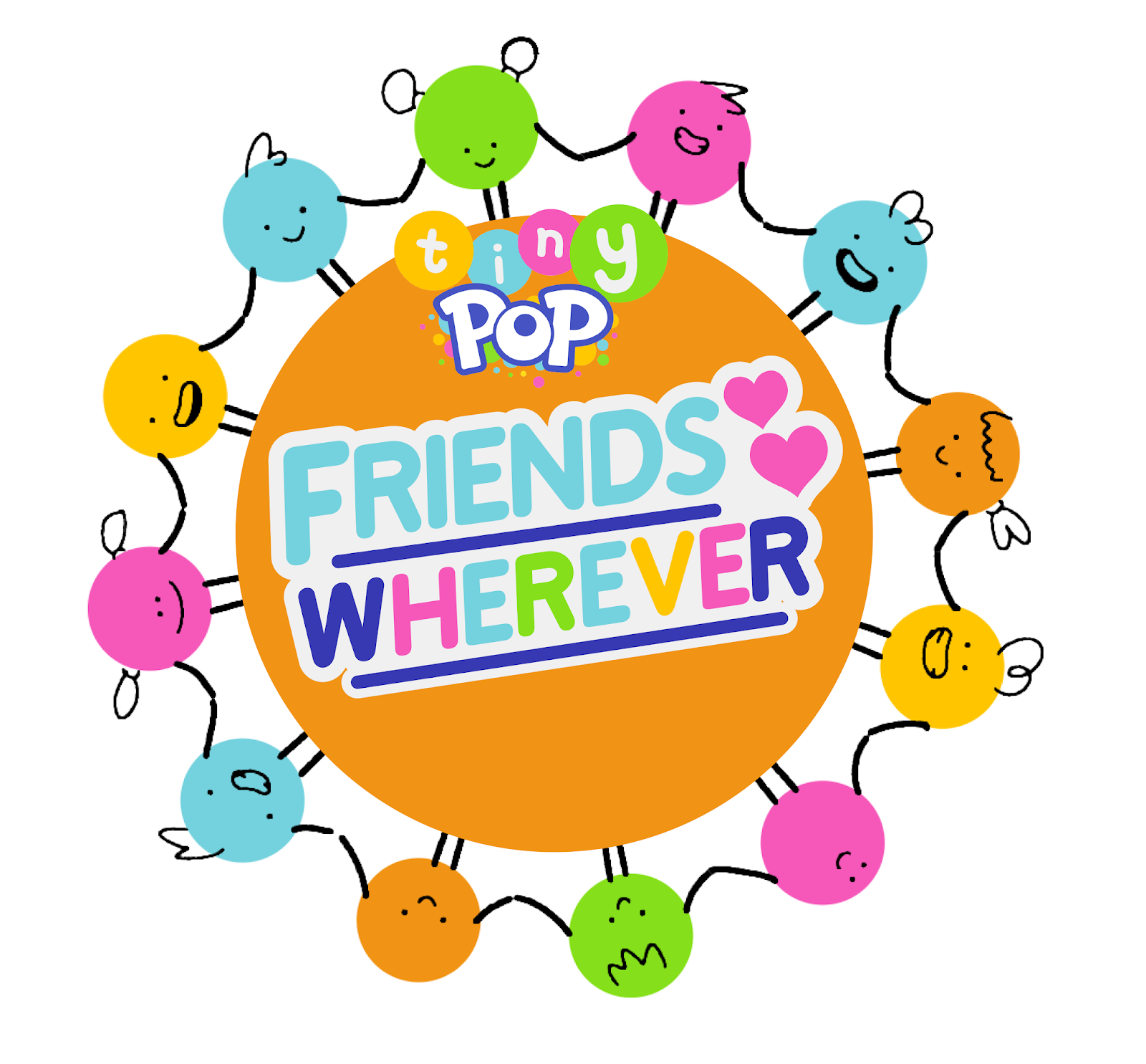 tiny pop friendship wherever logo