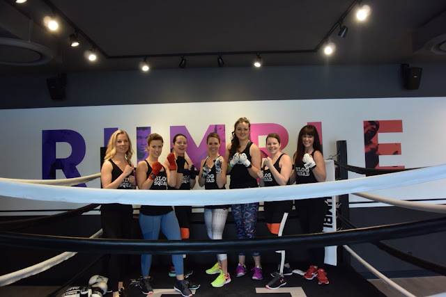 The Alberta Blog Squad at Rumble Boxing Studio Calgary
