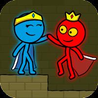 Red and Blue Stickman : Animation Parkour Mod Apk