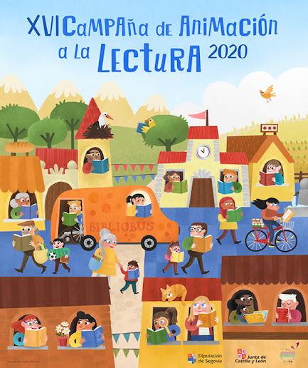 Cartel Animacion Lectura 2020 - Maria Albarran Ilustracion