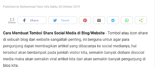Cara Membuat Tombol Share Social Media di Blog/Website