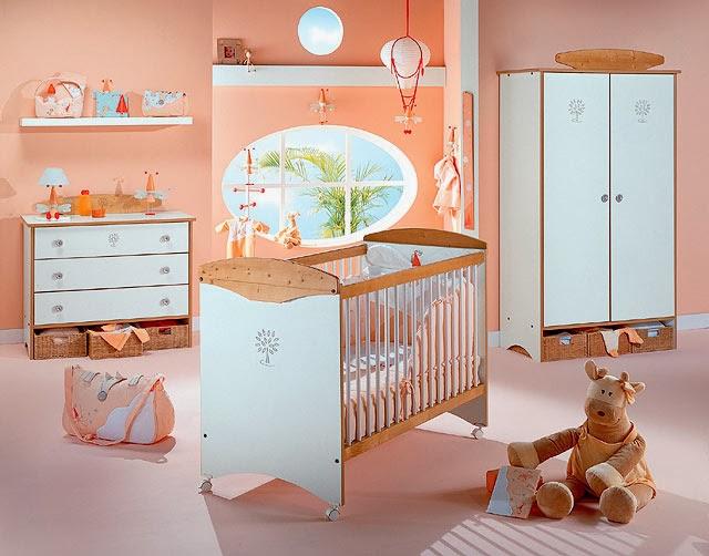 dormitorio salmón para bebé