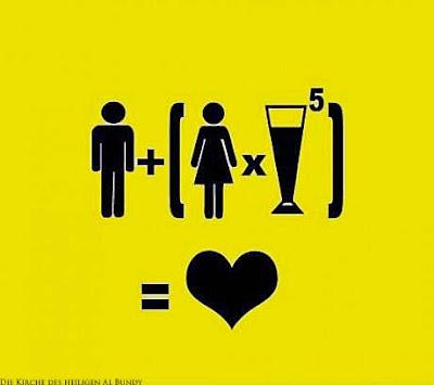 ann und Frau - Bier Mathe Formel lustig - ist gleich Liebe