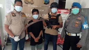 Bak Jagoan Seorang remaja di Surabaya seret cerulit panjang, Diciduk Polisi mewek
