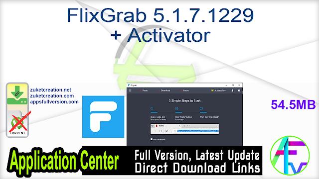 FlixGrab 5.1.7.1229 + Activator