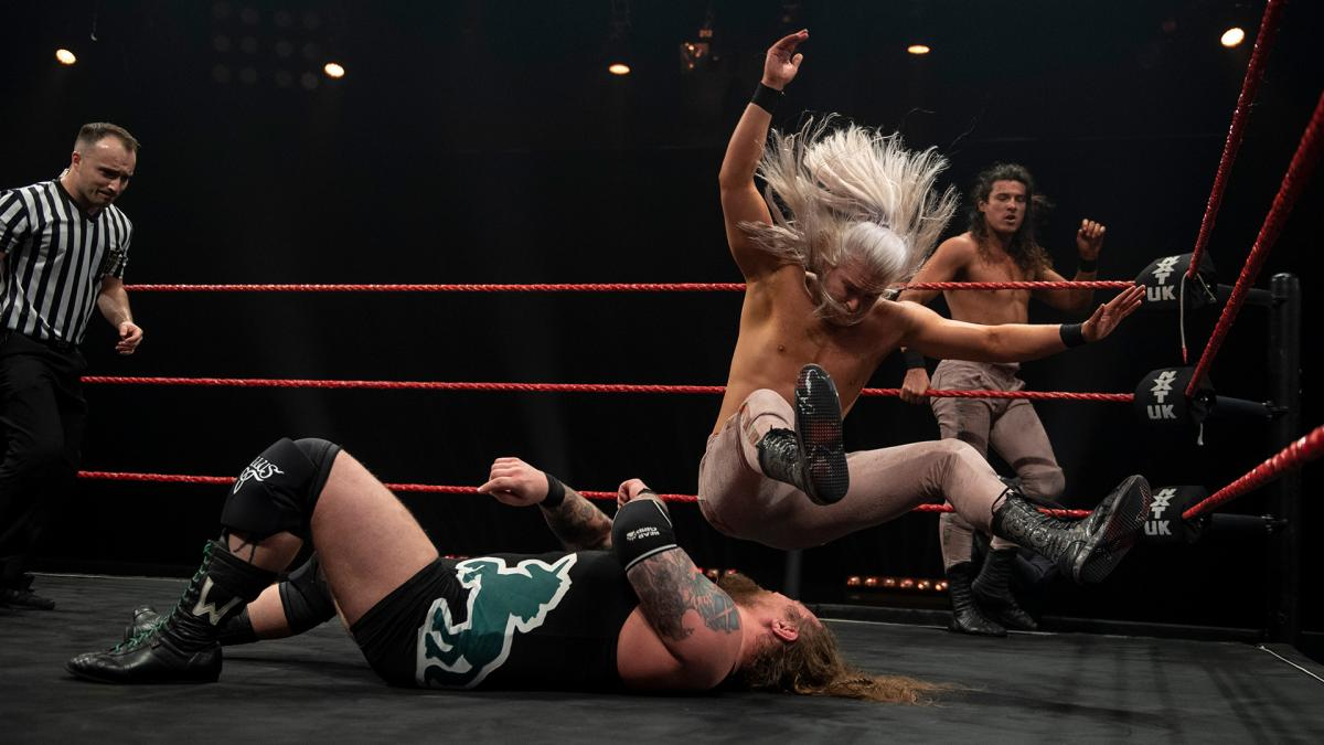 Pretty Deadly and Gallus on WWE NXT UK