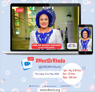 Dr Rhoda will be Live on Facebook on the 21st of May, 2020. Anticipate!!