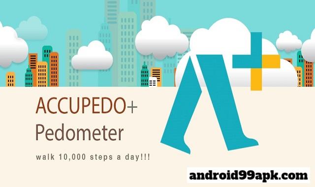 تحميل Accupedo+ pedometer v3.8.5.G كامل بحجم 10 ميجابايت للأندرويد
