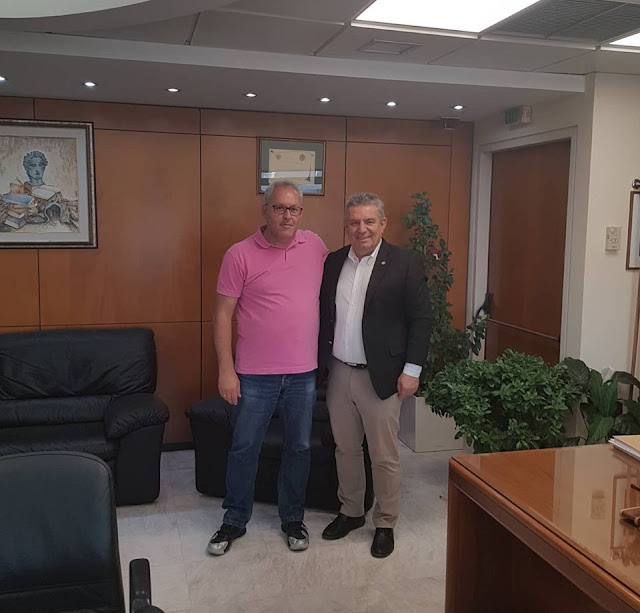 ΜέΡΑ25: Επίσκεψη του υπ. βουλευτή Γ. Κυριακόπουλου στο Δημαρχείο Ιλίου