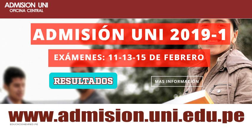 Resultados UNI 2019-1 (Miércoles 13 Febrero) Segunda Prueba - Matemática - Lista Aprobados Examen Admisión - Universidad Nacional de Ingeniería - www.uni.edu.pe
