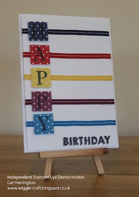 Stampin' Up! Ribbon Happy Birthday Card