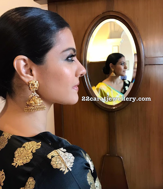 Kajol Heavy Kundan Earrings