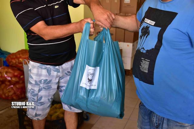 Ολοκληρώνεται σήμερα από τον Δήμο Ναυπλιέων η 5η δράση διανομής δωρεάν τροφίμων σε ευπαθείς ομάδες