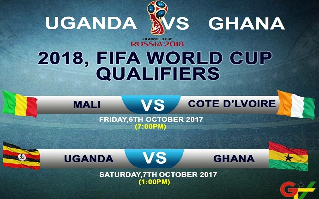Uganda vs Ghana Live TV - 2018 FIFA World Cup Russia Qualifiers