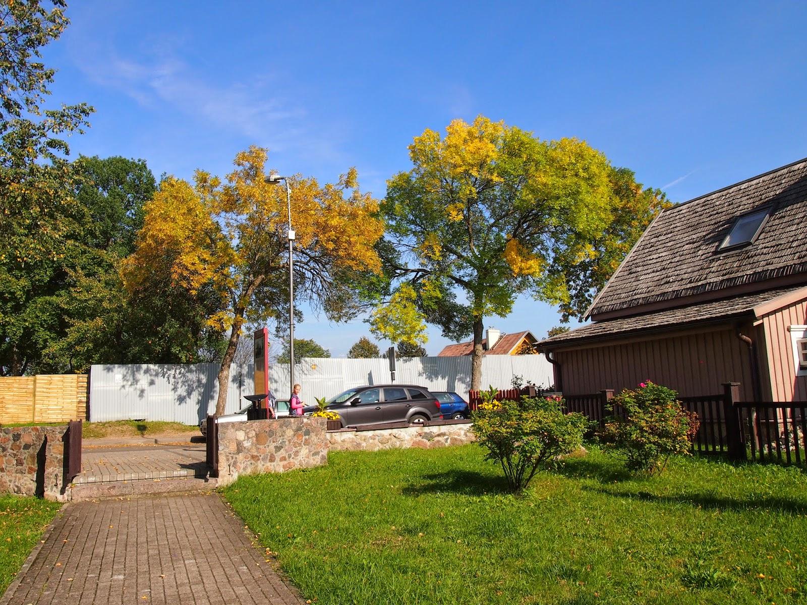 fall colors in Trakai, Lithuania